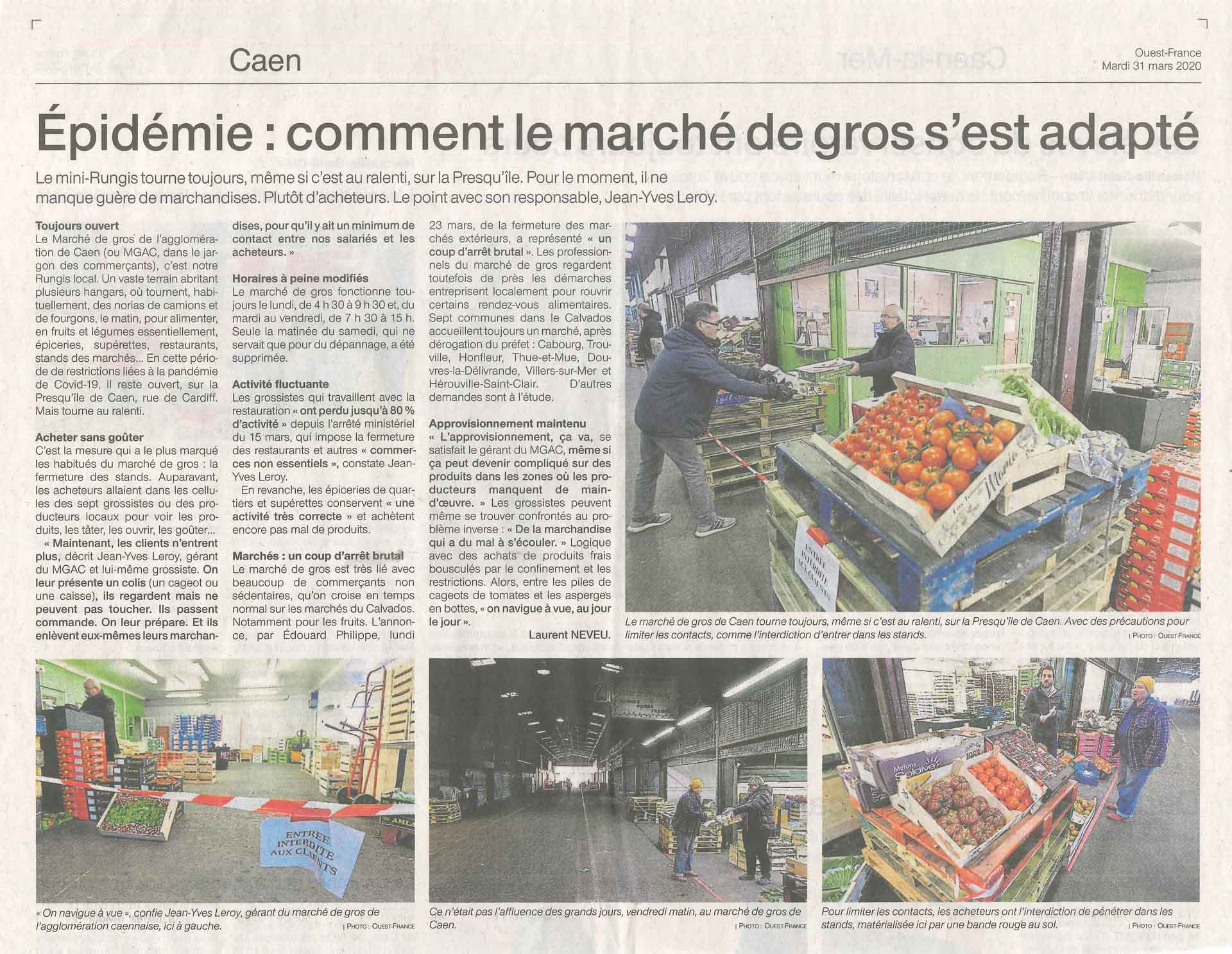 Ouest france 31/03